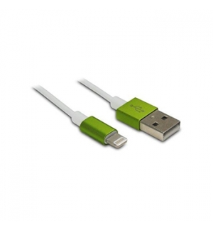 Cabo USB 20 para iPhone/iPad 5 Verde 1mt