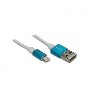 Cabo USB 20 para iPhone/iPad 5 Azul 1mt