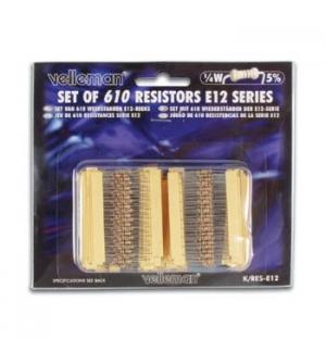 Set de 610 resistencias serie E-12