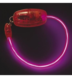 Bracelete electroluminescente EL Neon Rosa