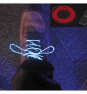 Set de fio electroluminescente cor vermelha 1,5mt