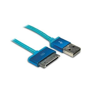 Cabo USB 20 para iPhone/iPad 4 Azul 1mt