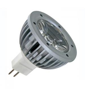 Lampada LED 1W branco frio (6400K) 12VAC/DC - MR16
