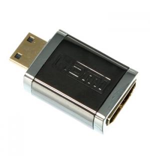 Adaptador HDMI profissional em metal femea/mini-HDMI macho