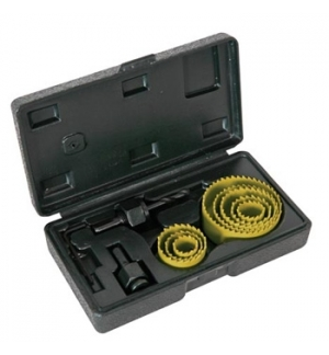 Kit de 8 serras circulares c/ broca piloto