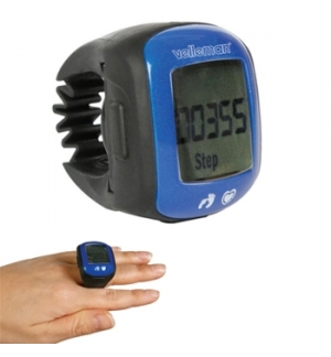 Pedómetro c/indicador de freq cardíaca c/suporte tipo anel