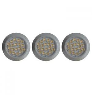 Sistema de iluminação LED para armarios 3 x 1.2W neutro