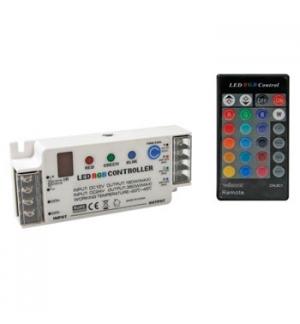 Controlador LED RGB com controle remoto IR