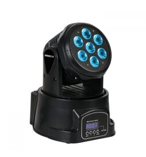 LED Mini Moving Head 7x10W RGBW Preto