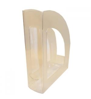 Porta Revistas 320x250x80mm Plastico Cristal
