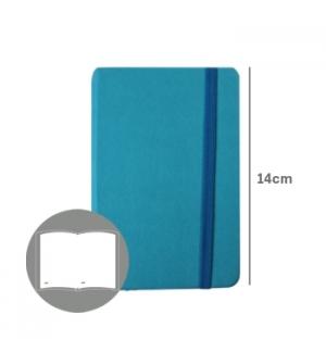 Bloco Notas Liso14x9cm Semi Pele Azul Turquesa 116Flh agenda