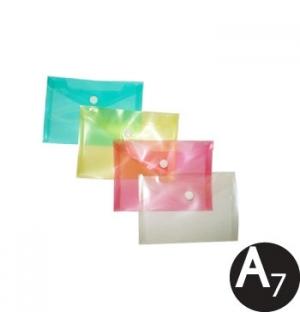 Envelope Plástico A7 Transparente Sortido 1un