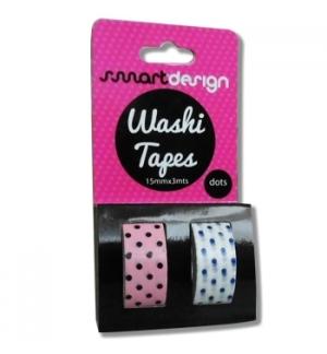 Fita Adesiva Decorativa Washi Tape Bolinhas 2un