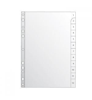 Separadores A4 Plastico Numerados (1 a 12) (Roma265)
