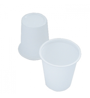 Copo Café Plástico 100ml Branco 50un