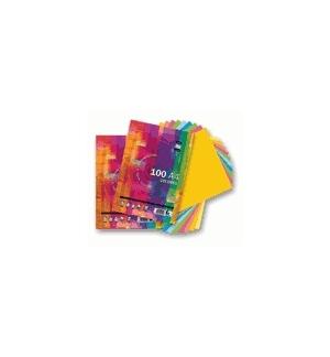 Papel Fotocopia A4 80gr 5 Cores Suaves 5x20 100 Folhas