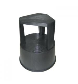 Tamborete/Escadote Plástico 2 Niveis 45cm Altura Preto