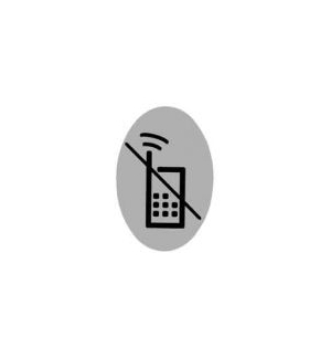 Sinaletica (Proibido Telemoveis) Plastico Adesivo Oval