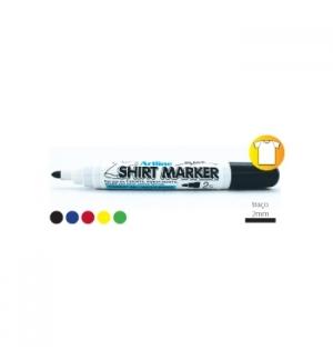 Marcador Tecidos ShirtMarker Artline EKT 2mm Vermelho 1un