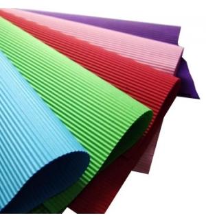 Folha Cartao Canelado Colorido 50x70cm Azul Claro