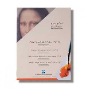 Bloco Papel Pintura Acrilica 17x24cm 420gr 20Folhas