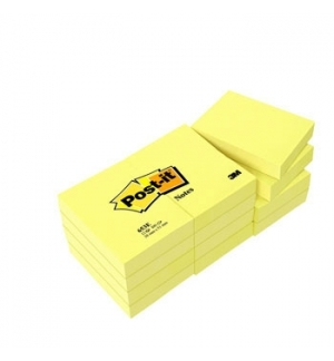 Post-It 653E Blocos 100 Folhas 38x51mm Pack 12un