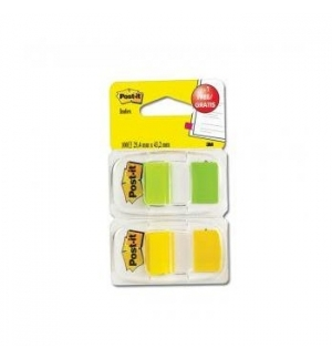 Post-it Index 1 Polegada Amarelo Verde(oferta) Flures1un