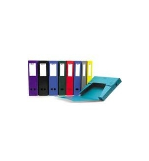 Caixa Arquivo 60mm Plastico A4 c/ Etiq Cores Sortidas 1Un