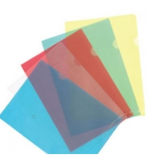 Bolsa Plastico em L A4 (120microns) -Azul-10un