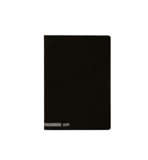 Caderno Agrafado Capa Preta A5 Quadriculado 80 Folhas