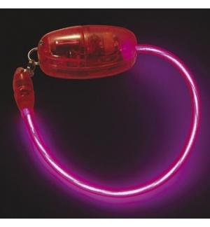 Bracelete Eletroluminescente EL Neon Rosa