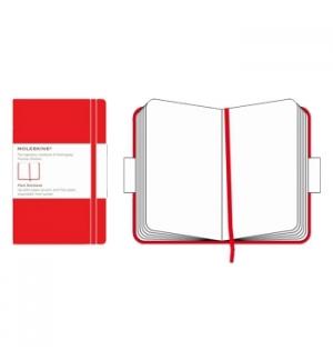 Bloco Notas de Bolso Liso Moleskine Classico Vermelho