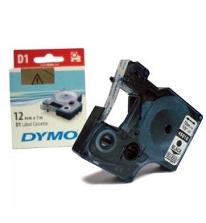 Fita Gravacao Dymo 12mmx7m Transparente/Preto (45010)