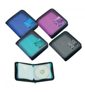 Bolsa para 24 CDs com Fecho Zip EK Vivid Colors Sortido