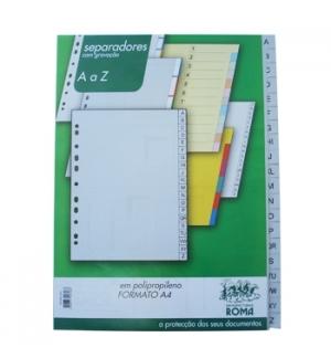 Separadores A4 Plastico Indice A4  (A a Z)  - 1un