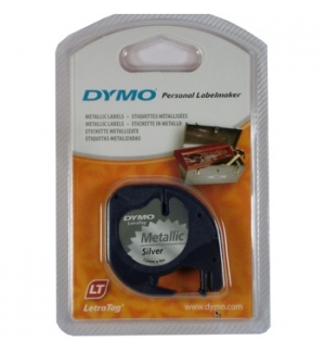 Fita Gravacao Dymo 12mmx4m Metal/Prata (91208)