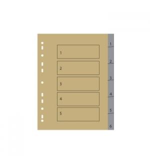 Separadores A4 Plastico Numerados (1 a 6) 1un