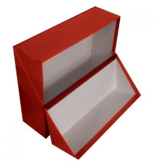 Caixa Arquivo Frances (365x280x100mm) Almaco Vermelho - 1un