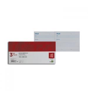 Blocos Impressos-Vale de Caixa- 205x112mm-1un