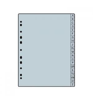 Recarga Separadores p/Agenda 1671020 A/Z, PP 0,13, A5 (ROMA