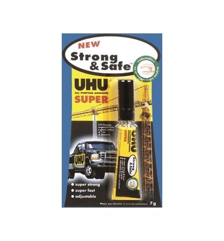 Cola Rapida UHU Strong & Safe 7gr - Blister 1un