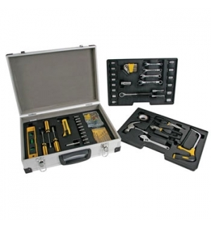 Mala de Aluminio com kit de ferramentas de 158 pecas