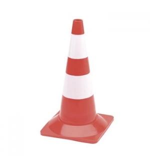 Cone Seguranca Branco/Vermelho 50cm