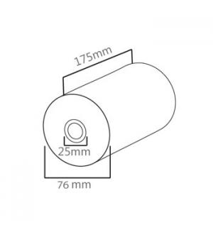 Rolo Papel Termico 76x175x25 - 1un