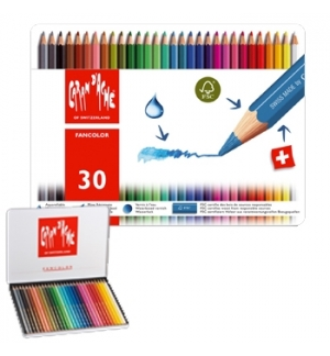 Lápis Cor Caran DAche Fancolor Cx Metalica 30 Cores