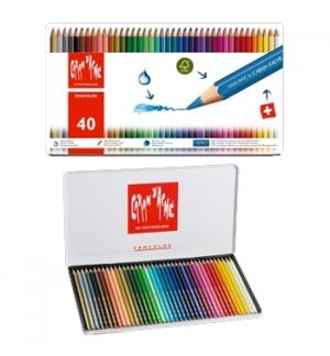 Lápis Cor Caran DAche Fancolor Cx Metalica 40 Cores
