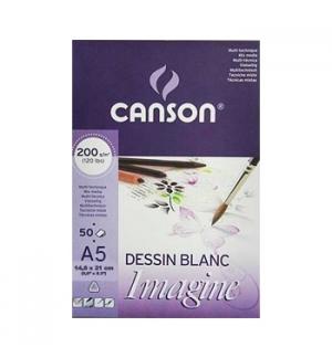 Bloco Desenho A5 14,8cmx21cm Canson Imagine Fino 200gr-50fl