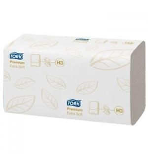 Toalhas Maos ZigZag 23x22,6cm TORK H3 Premium Branco-3000un