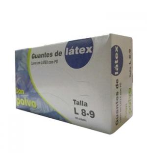 Luvas Latex c/Po Super Finas Tamanho (L) - (Pack 100un)