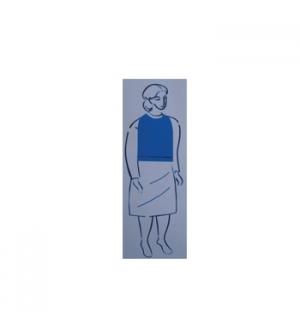 Babete Adulto,c/Bolsa,Plastico 4x125 Cx 500un